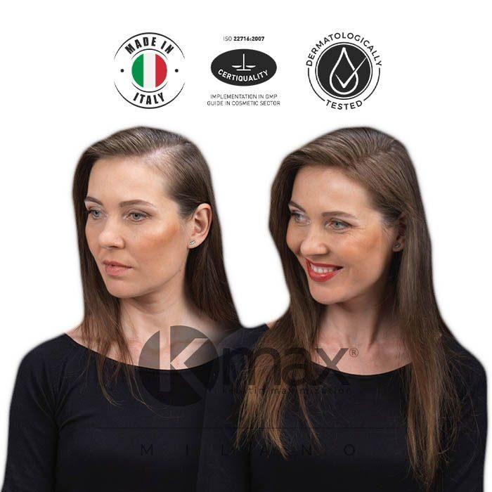 KMAX_Кератиновый загуститель волос_до и после_1