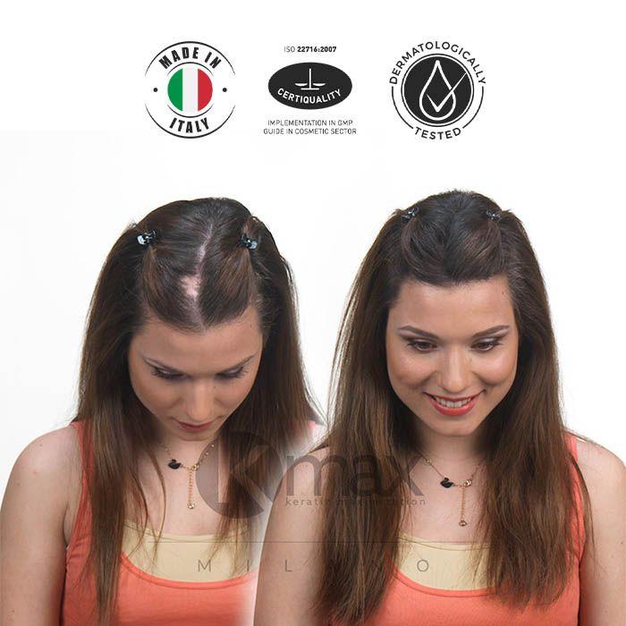 KMAX_Кератиновый загуститель волос_до и после_3